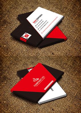 红色商务服装加工名片设计