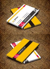 黄色创意摄影器材摄影师名片设计