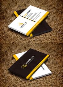 黄色简约个性化创意名片设计
