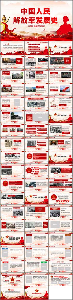 精美解放军发展历程军史PPT模板