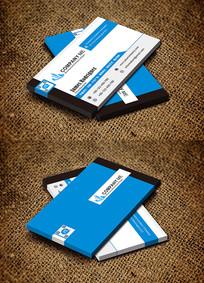 蓝色创意个性时尚房地产名片
