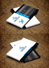 蓝色创意媒体传播影视传媒名片设计