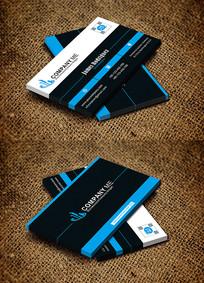 蓝色房地产开发建筑公司名片设计