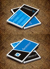 蓝色简约个性化商务名片设计