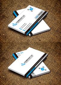 蓝色简约科技公司IT行业名片设计