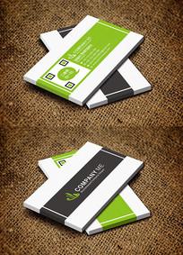绿色简约清新环保科技名片设计