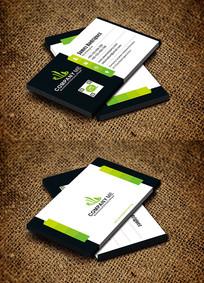 绿色清新传播媒介广告公司名片设计
