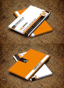 橙色创意科技公司IT大气名片