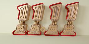 金属双11字体元素