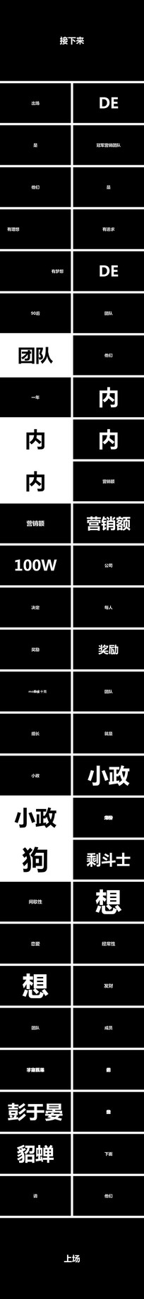 营销冠军团队颁奖年会快闪ppt