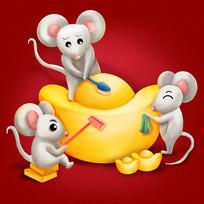 原创鼠年3鼠刷金币