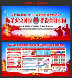2019年全国消防宣传月主题展板