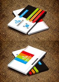 彩色设计公司名片广告印刷名片