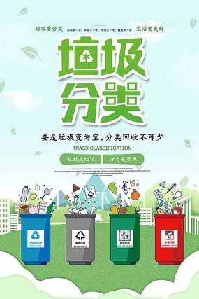 创意大气垃圾分类海报设计