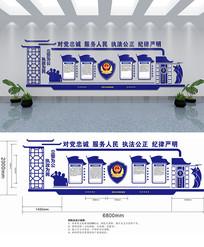 公安警察办公大厅文化墙设计