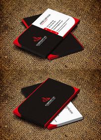 红黑大气时尚创意个性化名片设计