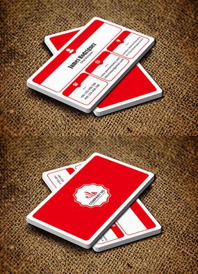 红色个性化商务简约创意名片