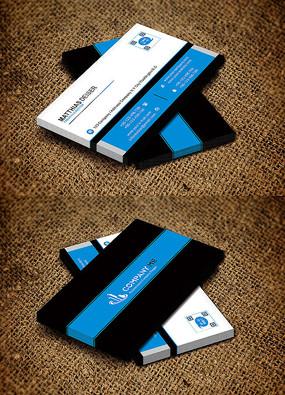蓝色横版简约创意商贸零售行业名片