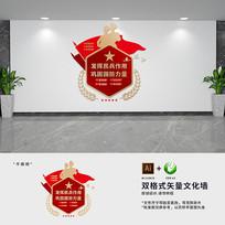 民兵标口号文化墙