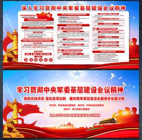 中央军委基层建设会议讲话展板