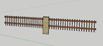 栏杆围栏su学生模型素材