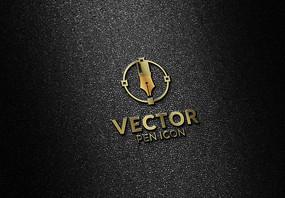 logo金属立体贴图样机