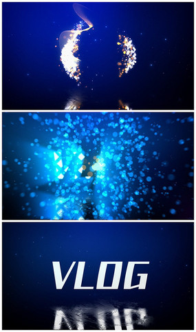 唯美粒子汇聚logo演绎AE视频模板