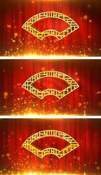 新年春晚戏剧相声表演主题背景视频素材