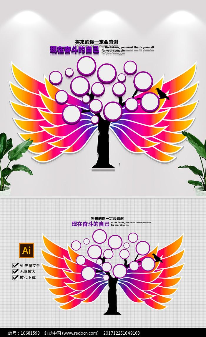 翅膀企业文化墙员工风采照片墙形象墙图片