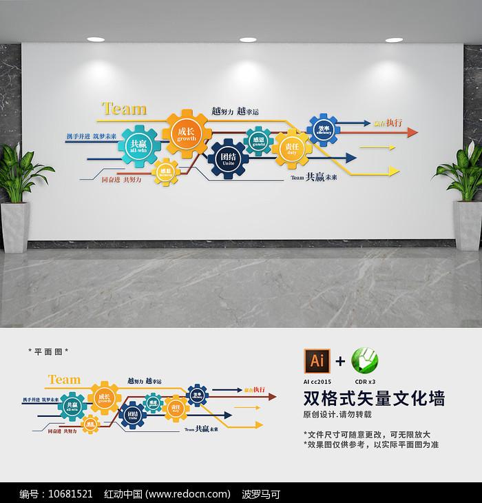 创意企业文化墙图片