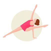 瑜伽健身女性插画