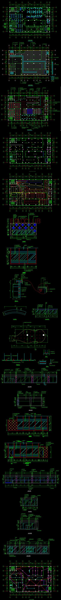 全套健身中心CAD施工图
