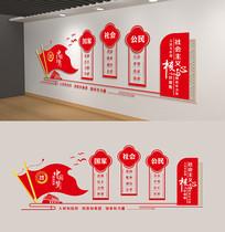 社会主义核心价值观党建文化墙雕刻展板