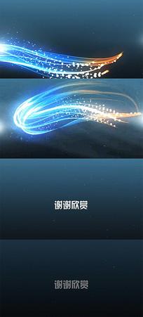唯美粒子光效演绎企业logo标志视频模板