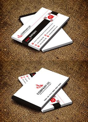 红黑大气横版创意服装纺织行业名片