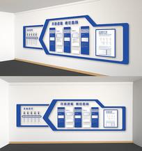 蓝色科技企业发展史文化墙