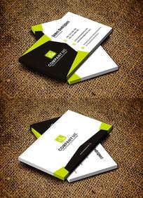 绿色创意简约时尚环保企业名片