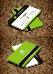 绿色创意圆角教育文化机构名片设计