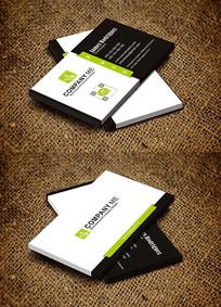 绿色简约创新型企业教育机构名片设计