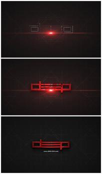 震撼科技感片头logo视频模板