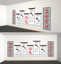 中国风新中式社区文化墙设计