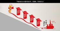 中国梦强军梦党建文化墙楼梯墙雕刻展板