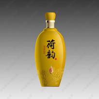 荷韵酒黄色酒瓶效果图