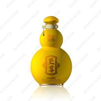 黄色葫芦酒瓶效果图