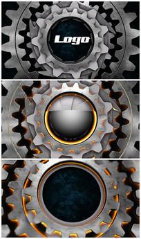 科技科技齿轮logo片头视频模板