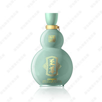 青瓷葫芦酒瓶效果图