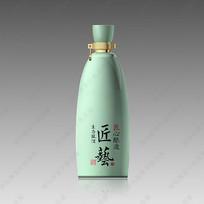 青瓷酒瓶效果图
