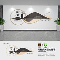 新中式校园图书馆阅读文化墙