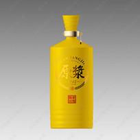 原浆酒黄色酒瓶效果图