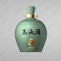 玉液酒青瓷酒瓶分层效果图